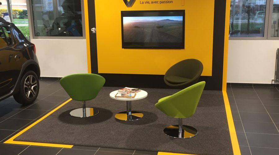 Concession Renault adhésivé par DécoAder