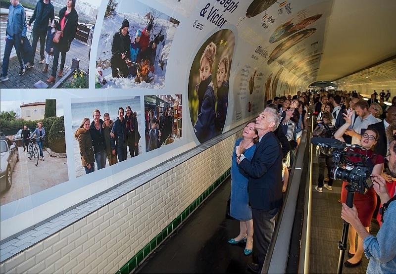 Habillage du station métro